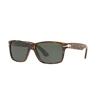 Persol PO3195S 1054/31 Dark Havana/Green Sunglasses