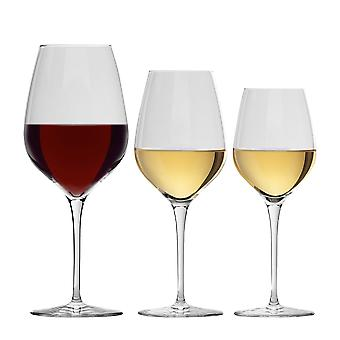 Bormioli Rocco Inalto Tre Sensi Wine Glasses Set - 305ml, 430ml, 650ml - 18pc Set