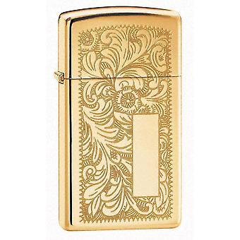 Zippo Slim Venetian Brass Lighter -