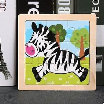 Wooden 3d Puzzle For - Educational Cartoon Animal/traffic Puzzles