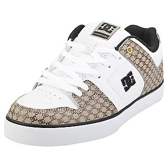 DC Shoes Pure Se Sn Mens Skate Trainers in White Brown