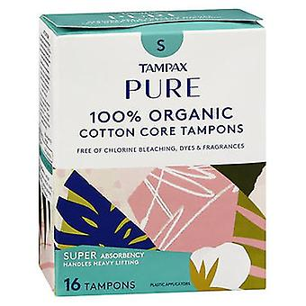 Tampax Pure 100 % Bio-Baumwolle Kern Tampons Super Absorption, 16 CARTN