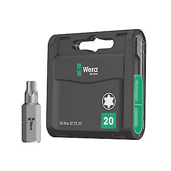 Wera Bit-Box 20 H Extra Hard Bits TX20 x 25mm 20 Pièce WER057770