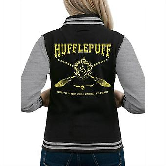 Harry Potter Womens/Ladies Hufflepuff Collegiate Varsity Jacket