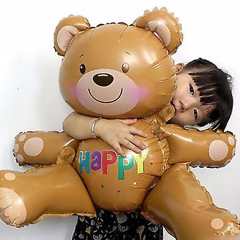 30'' Large 3d Happy Bear Shape Foil Balloons