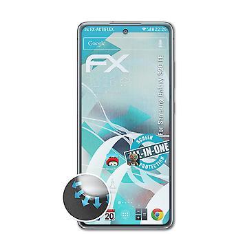 atFoliX 3x Folia ochronna kompatybilna z samsung galaxy s20 FE ekran ochraniacz przejrzysty i elastyczny