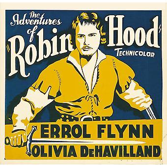 Die Abenteuer von Robin Hood Errol Flynn auf Jumbo Fenster Karte 1938 Film Poster Masterprint