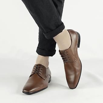 Shumo Marlow Mens Smart Derby Shoes Brown