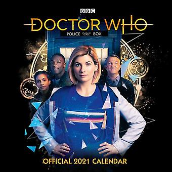 Doctor Who El 13o Doctor 2021 Calendario Oficial de Formato de Pared Cuadrado