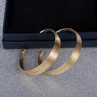 Örhängen med guldplätering stora hoops breda