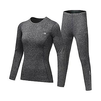 Set intimo termico uomo-donna. Inverno Quick-drying Warm Tights Fitness