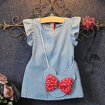 Modèle de robes de bébé de fille, citron d'impression, dessin animé, gosses femelles d'été de chéri