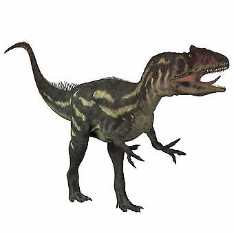 Аллозавры большой тероподом хищных динозавров, которые жили в конце юрского периода Плакат Печать