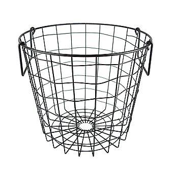 Dii Metal Basket Negro Ronda Pequeña