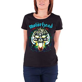 Motorhead T Shirt Overkill Band Logo new Official Womens Skinny Fit Black