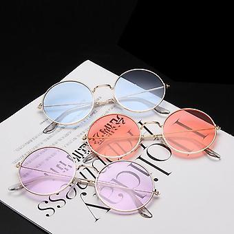 المرأة العلامة التجارية مصمم عدسة ملون نظارات الشمس المرأة سبيكة مرآة أنثى