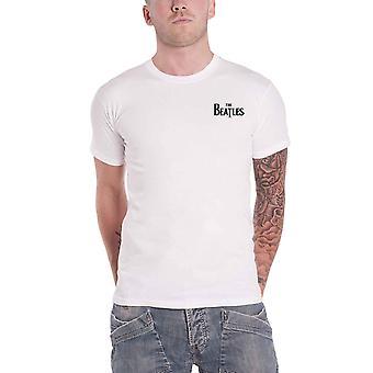 The Beatles T Shirt Classic Drop T Band Logo Back Print new Official Mens