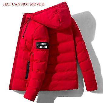 ירידה משלוח אופנה חדשה גברים חורף מעיל מעיל עם ברדס חם Mens מעיל חורף