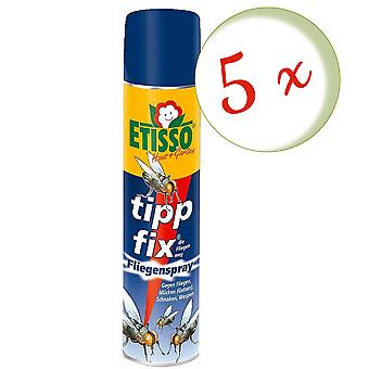 Sparset: 5 x FRUNOL DELICIA® Etisso® Tip fix Fly Spray, 400 ml - also against wasps