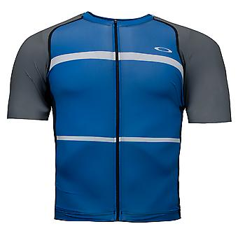 Oakley Colorblock Road Jersey Zip Up T-Shirt Mens Ciclismo Top 434144 6B2