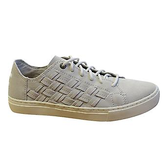Toms Lenox Birch Suede Basketweave Leather Lace Up Womens Trainers 10011821