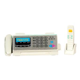 Nuket Talo Miniature Study Office Desk Lisävaruste Puhelin Puhelin Faksi