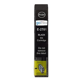 1 sort blækpatron til erstatning af Epson T2701 (27-serien) Kompatibel/ikke-OEM fra Go Inks
