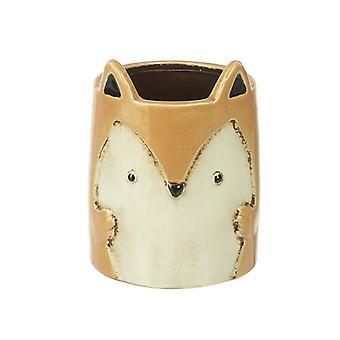 Ceramic Fox Planter 14.5cm