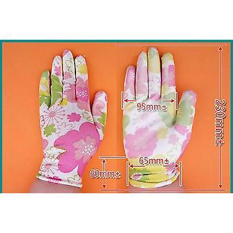 Heavy Duty Working Gloves, Nylon Printed, Pu Coated, Gardening Glove,