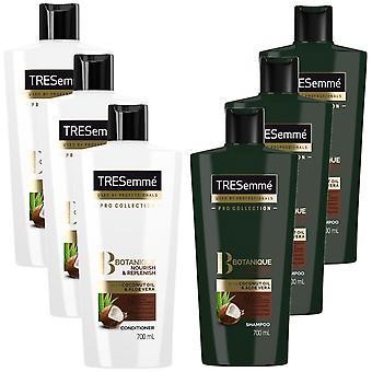 Tresemme Botanique Nourish & Replenish Shampoo, 3 Pack 700ml