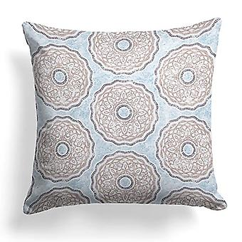 "Looper Printed Woven Decorative Square Pillow 18"" X 18"""