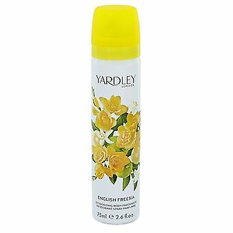 Engelska Freesia av Yardley London Body Spray 2.6 oz/77 ml (kvinnor)