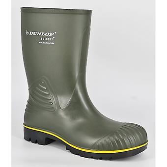 Dunlop Acifort Hd Calf Mens Heavy Duty Agricultural Wellington Boots Green