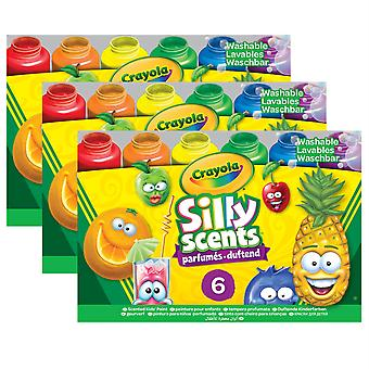 Silly Scents Washable Paints, Sweet Scents, 6 Count - Bin542392-3