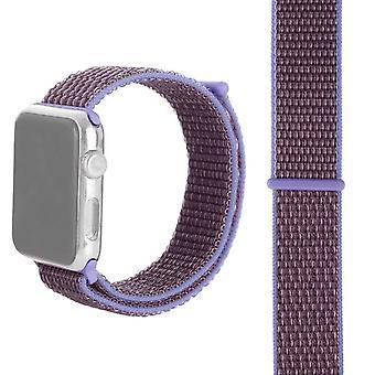 Simple Fashion nylon urbånd med Magic Stick til Apple Watch serie 5 og 4 40 mm / 32 og 1 38 mm (lys violet)