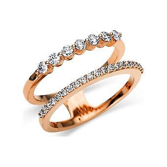 לונה יצירה Promessa טבעת מרובים אבן לקצץ 1U133R852-1 - רוחב טבעת: 52