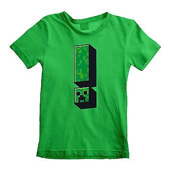 Barn's Minecraft Creeper Utrop Grønn Crew Neck T-skjorte