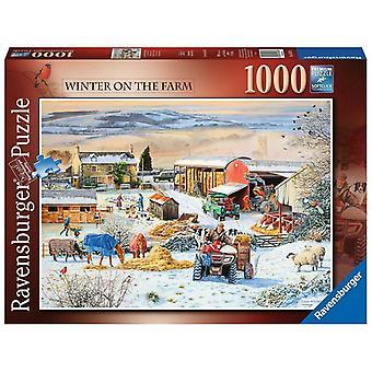 Ravensburger Legpuzzel Winter op de Boerderij 1000 stukjes