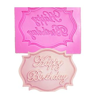 Happy Birthday Letter Form Silicone Mold, Chocolate Fondant Cake Decoration