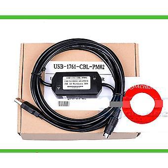Plc Programming / Data Download Cable Usb-1761-cbl-pm02 For A-b Microlonix