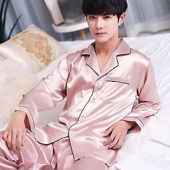 ذكر وصمة عار الحرير بيجامة مجموعة، بيجامة الحرير، ملابس النوم، بدلة ناعمة الذكية، الصفحة الرئيسية