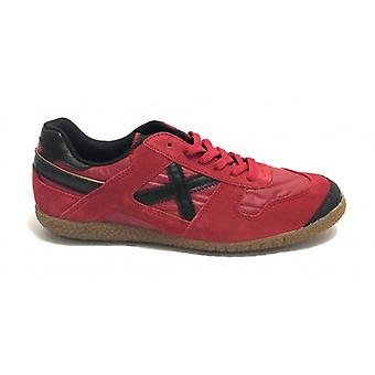 Munich Sneaker Goal Shoes In Suede Color Red Men U20mu13