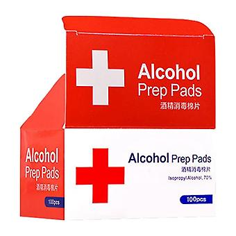 Alcohol Wet Wipe Disposable Disinfection Prep Swap Pad (white)