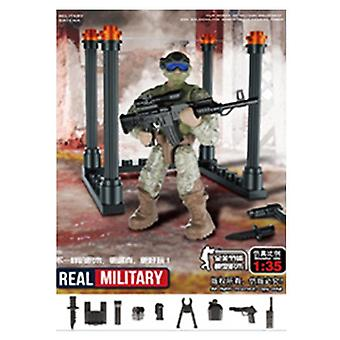 6 Style Mini Soldier   Figurines With Building Blocks Set