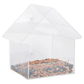 Eshert Design Bird Feed House Acrylic 15x10x15.3 cm FB370