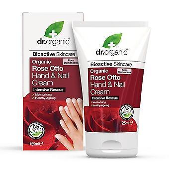 Dr. Organic Crema de Manos y Uñas Rose Otto 125 ml