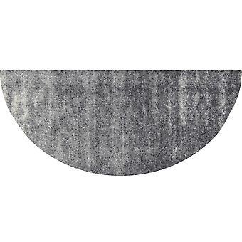 Salonloewe dörrmatta fälg Ronny Stripes grå H42x085 halvcirkelformad
