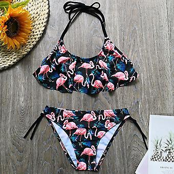 Girl Swimsuit Kids Tropical Avocado Print