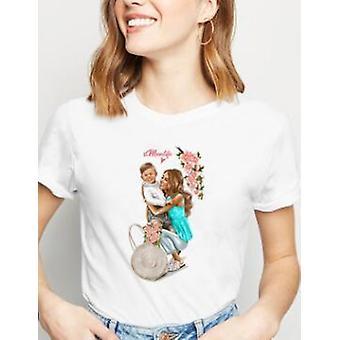 Äiti Tytär Matching T-paidat, Äiti Vauva T-paita