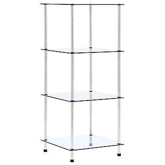 رف vidaXL مع 4 رفوف شفافة 40x40x100 سم الزجاج المقسى